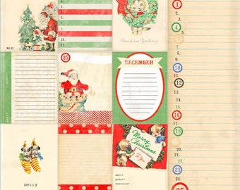 "Melissa Frances Countdown to Christmas Collection, 12"" X 12"" Single-Sided Paper, ""Countdown"" Holiday Scrapbook and Paper Crafting"