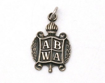 ABWA Sterling Silver Bracelet Charm American Business Women's Association