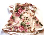 Baby Girl Dress 3/6 months , Floral -  Ready to ship