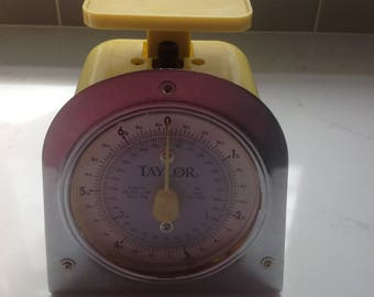 Yellow Taylor Kitchen Scale -