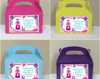 12 Personalized Candyland Gable Boxes Candyland Favor Boxes  Candyland Treat Boxes Candyland Party Favors