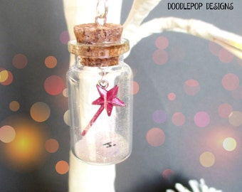 Pink Fairy wand Ornament - Personalised Christmas Ornament - Pink wand - Fairy wand decoration - Gift for girls - Stocking filler - Etsy UK