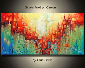 GICLEE PRINT Beyond this Horizon Ready to Hang of Original Abstract Painting by Lana Guise