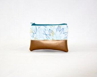 Mini bag - copper white flower