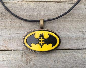 Batman-Batman Autism Awareness-Batman Necklace-Batman Autism Puzzle Piece-Batman Necklace