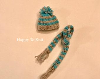 "Fashion doll hat and scarf for 11.5"" fashion doll like Barbie"