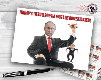 Postcards from the Resistance - Trump's Ties to Russia Must Be Investigated!