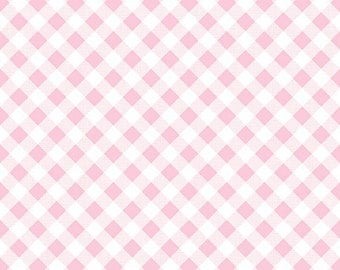 Sew Cherry 2 Gingham Pink - C5808-Pink by Lori Holt of A Bee in My Bonnet for Riley Blake Designs