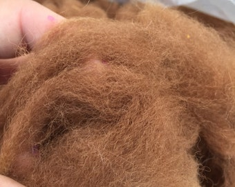 Raw Alpaca Blanket Fleece- Caramel