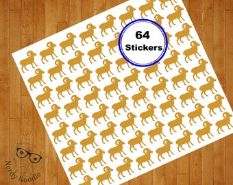 Ram Stickers, 64, Ram Planner Stickers, Ram Sticker Set, Ram Envelope Seals, Ram Envelope Sticker, Ram, Scrapbook Stickers, Party Stickers