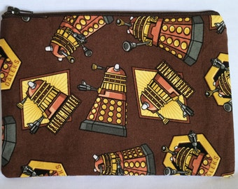 Dr. Who Dalek inspired zip bag/pouch.