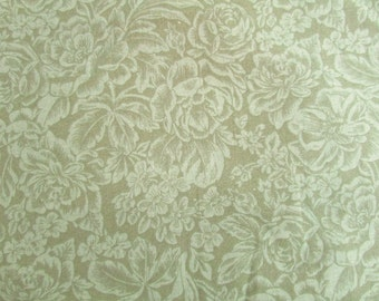 4 Yards of Green on Green Floral Fabric - 44 Inches Wide - Quilting Weight Fabric
