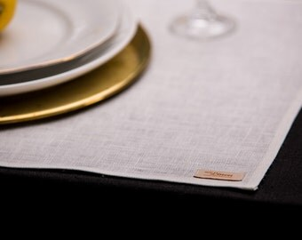 Linen Placemat Pure Natural White Rustic