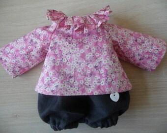 Ensemble pour poupée ou lapin en tissu