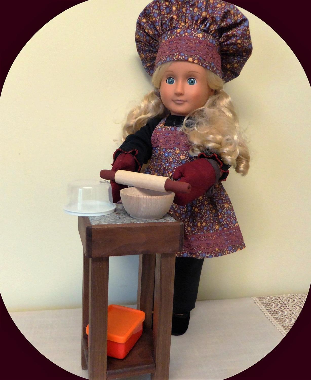 ag doll kitchen set 18 inch doll butcher block kitchen. Black Bedroom Furniture Sets. Home Design Ideas