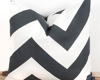SALE ENDS SOON Gray Chevron Print Pillow Case, Sofa Pillow Covers, Sham Pillowcases, Sizes 12 14 16 18 20 22