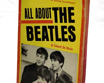 Vintage All About The Beatles Book by Edward De Blassio