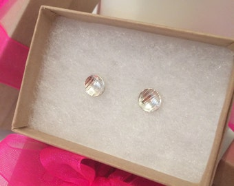 Little Round Cupped Studs - Sterling Silver