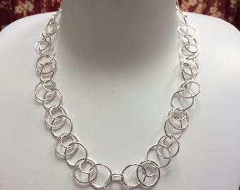 Handmade Sterling Silver Necklace - Big Chain - Big Loopy Chain