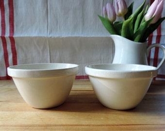 Vintage Ironstone Bowls Set Of 2/Vintage Ironstone Breakfast Bowls Made In England/English Ironstone Bowls/Small Ironstone Bowls Set Of 2