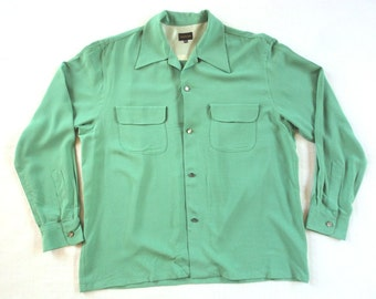 1940s 1950s Rayon Rockabilly Shirt Repro Mint (Japan) NEW XXL