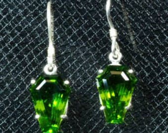 5ct Coffin Gem Dangle Earrings (Pair)