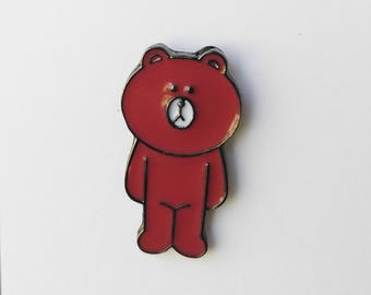 Enamel pin: Korean Bear, Rabbit, Duck Character Pin