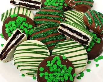 St. Patricks Day Chocolate Dipped Oreo Cookies - 1 Doz.