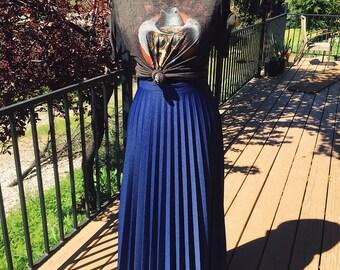 Cobalt Blue vintage long skirt size 6-8