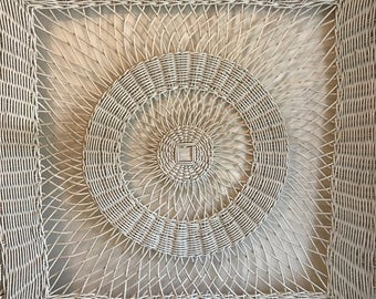 Vintage wicker wall decor - large