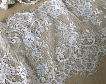 NEW Chantilly Lace Trim in Ivory for Weddings, Bridal Veils, Shawl, Custumes