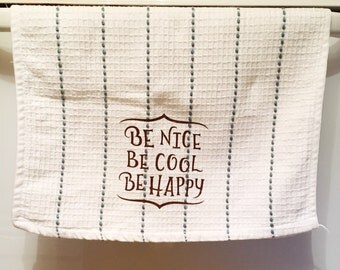 Decorative Tea Towel, Tea Towel, Kitchen Decor, Dish Towel, Motivation Decor, Home Decor
