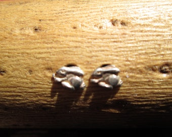 Tiny Sterling Silver Rabbit Stud Earrings