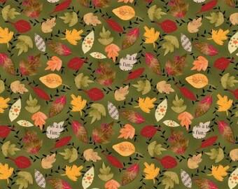 Fall leaves  fabric, fall fabric, fall quilt fabric,  Autumn Road fabric