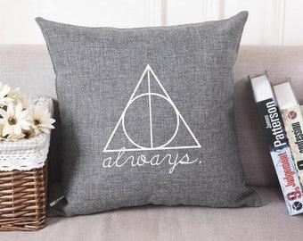 Harry Potter - Always - Deathly Hallows - Pillow Cover - Pillowcase - Pillow Sham
