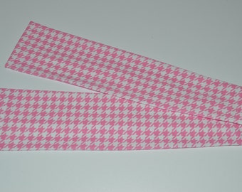 Houndstooth - pink sleeve