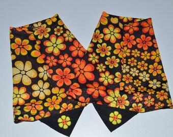 Flower Shower - Orange gaiter