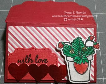 With Love...  Gift Card Holder...