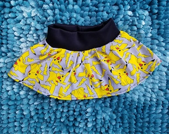 Pikachu baby toddler girl twirl skirt, kids girls Pikachu pokemon skirt, pokemon pikachu baby toddler childs kids girls twirl skirt,