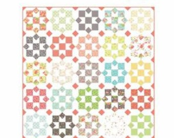 "Lulu Lane Sunny Quilt Kit designed by Coriander Quilts for Moda Fabrics, 60"" x 72"""