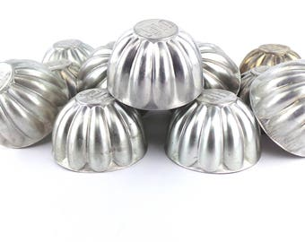 Vintage Jello Molds, Small Bundt Pans, Aluminum Molds