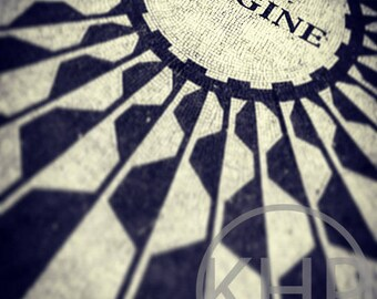 Imagine, Strawberry Fields, Central Park, NYC Black and White Photographic Print