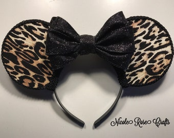 Leopard Inspired Mouse Ears