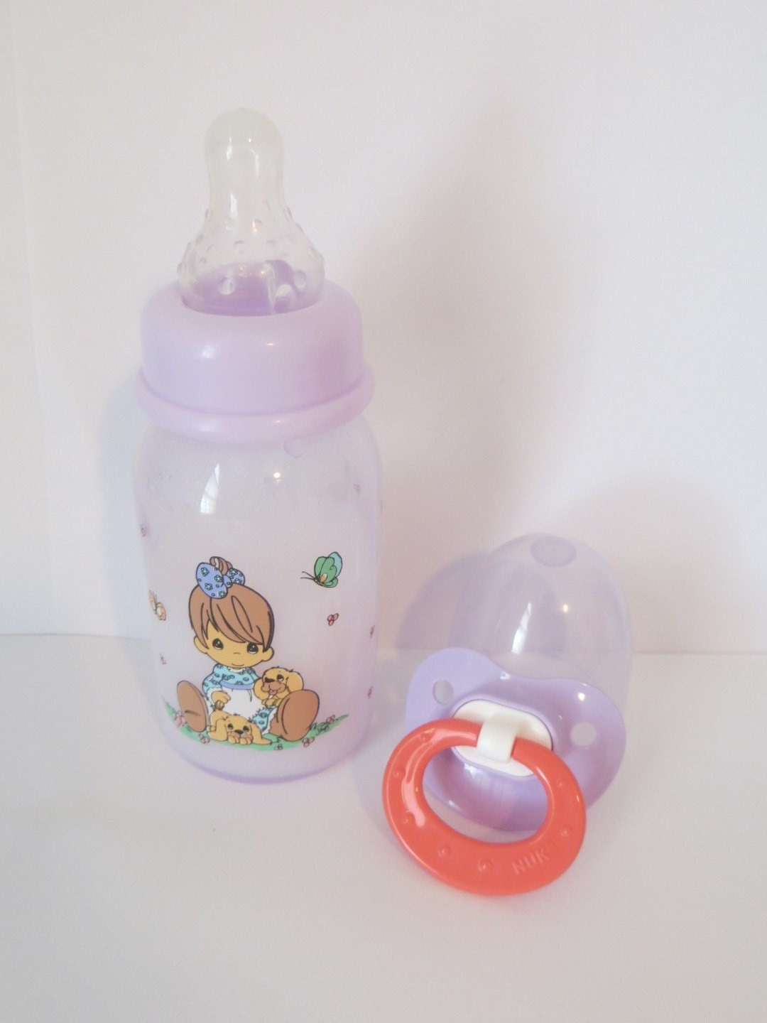 Reborn Baby Doll Bottle 5oz Precious Moments Girl Amp Her Puppy