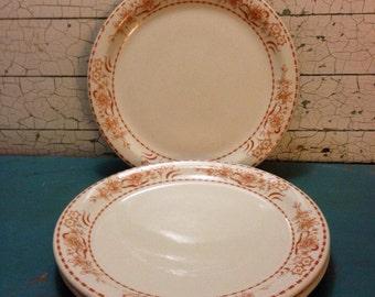 Vintage Restaurant Ware 3 Dinner Plates Shenango