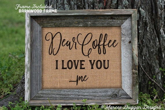 Framed Coffee House | Dear Coffee I Love You | Housewarming Gift | Java | 212