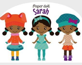 Printable Paper doll cute Sarah