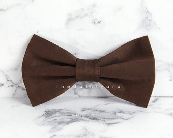 Chocolate Bow Tie Men Adult Groomsmen Matching Bowtie with TDY Infinity Dress
