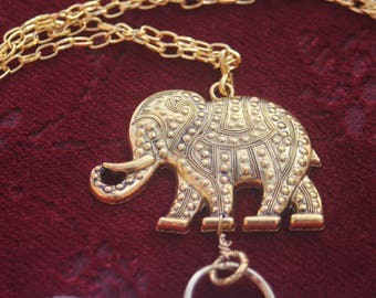 Golden Elephant Lanyard (ID Holder)