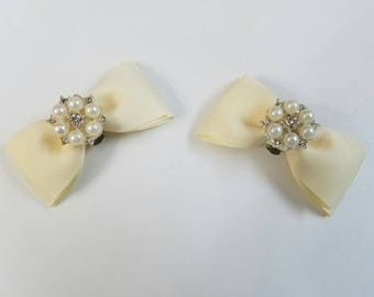 Ivory Multi Pearl Shoe Clips